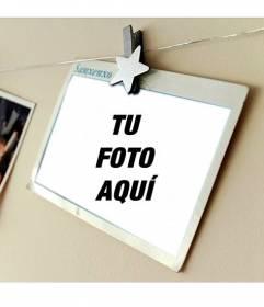 Fotomontaje con una postal de vacaciones donde colocar tu foto y añadir texto
