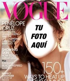 Fotomontaje donde podrás aparecer en la portada de la revista VOGUE