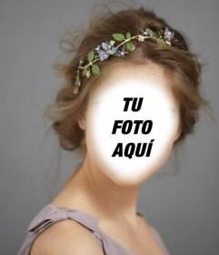 Fotomontaje de una dama de honor para editar con tu foto