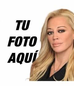 Fotomontaje con Belén Esteban, del programa Sálvame, para salir con ella en una fotografía