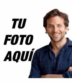 Fotomontaje con Bradley Cooper para colocar tu fotografía y aparecer junto a él en la imagen