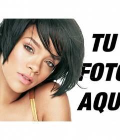 Fotomontaje con imagenes de Rihanna