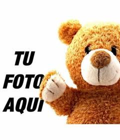 Fotomontaje infantil con un oso de peluche para añadir a tus fotos