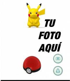 Fotomontaje con Pikachu de la aplicación Pokemon Go para poner tu foto