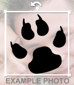 Tatoo de una pisada de un perro que puedes poner en tus fotos y simular un tatuaje