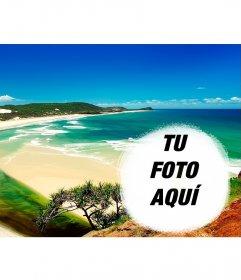 Collage para poner tu foto junto a una playa