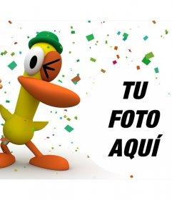 Pocoyo y Pato en una divertida fiesta donde puedes poner tu foto