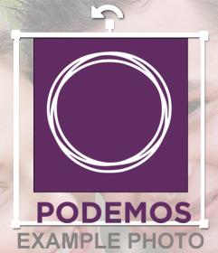 Chapa con el logotipo de el partido Podemos