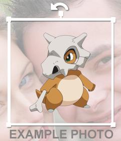 Pon en tus fotos al Pokemon Cubone como un sticker personalizable