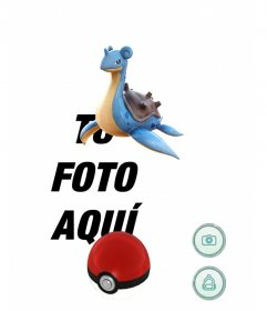 Montaje de Pokémon Go con Lapras donde podrás editarlo con tu foto