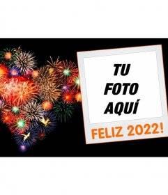 Marco para fotos de año nuevo 2020 con una polaroid