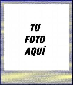 Fotomontaje tipo polaroid con color naranja y amarillo con textura de papel