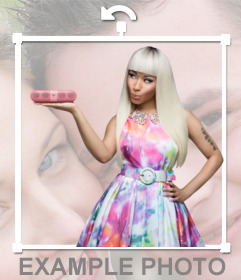 Niki Minaj para pegar online en tus fotografías