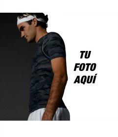 Fotomontaje del tenista Federer