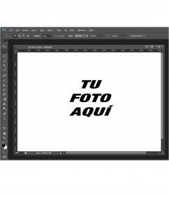 Fotomontaje con la pantalla de Photoshop