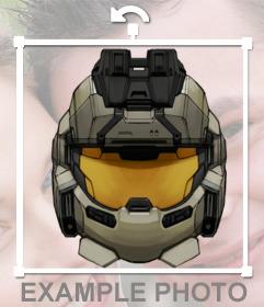 Pegatina de un casco de militar para tu foto