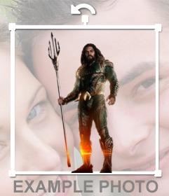 Fotomontaje de Aquaman para poner en tu foto