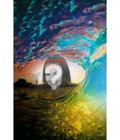 Montaje para poner una foto en el centro de una ola