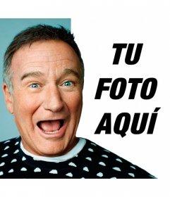 Sonríe junto a Robin Williams con el fotomontaje del actor