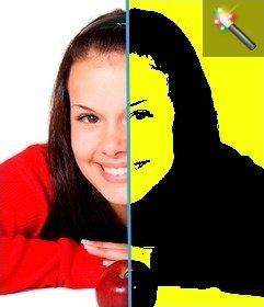 Montaje para fotos estilo pop art, con fondo color amarillo