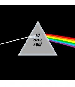 Fotomontaje con el CD de Pink Floyd