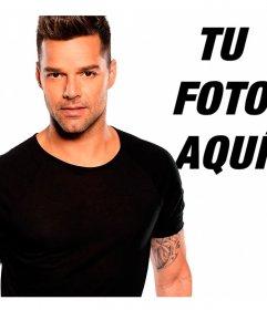 Posa junto al cantante Ricky Martin con estos montajes