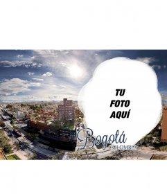 Postal de la ciudad de Bogotá para personalizar con tu foto