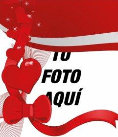 Crea tu postal de amor personalizada con una fotografía digitalizada gracias a este fotomontaje, uno de los muchos de esta página, sin descargar nada, de forma fácil y totalmente gratis