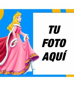 Bella Durmiente de Disney vestida de rosa junto a tu foto