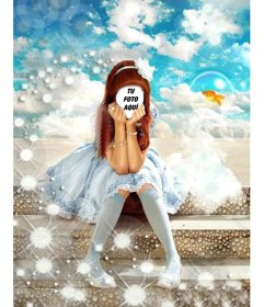 Fotomontaje para hacer online un disfraz de princesita para niñas