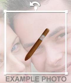 Pegatina de un puro para poner en tus fotos