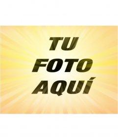 Foto efecto radial de color amarillo para darle un efecto a tus fotos