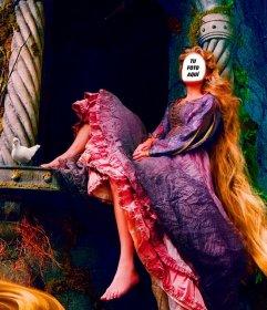 Con este fotomontaje serás la princesa de cuento Rapunzel en su torre
