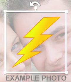 Sticker online de un rayo que puedes pegar en tus fotos para decorar