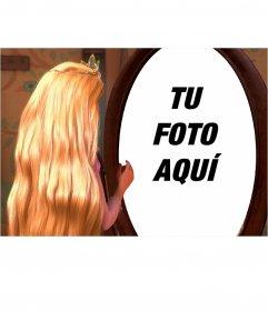 Fotomontaje para poner tu foto en el reflejo de Rapunzel