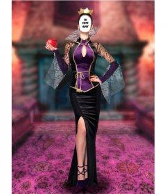 Fotomontaje para poner tu cara en una reina malvada de cuento