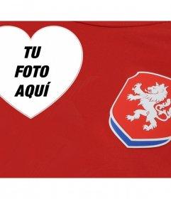 Apoya al equipo de fútbol de República Checa con este fotomontaje editable