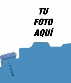 Foto efecto para manchar de pintura azul tus fotos y gratis