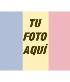 Collage para poner una bandera de Rumania junto con una foto que subas