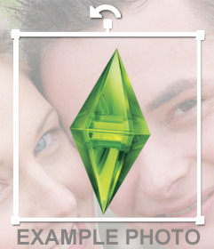 Pegatina con el diamante verde de los Sims
