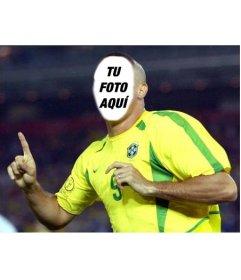 Transfórmate en Ronaldo, el jugador de fútbol de Brasil con este montaje