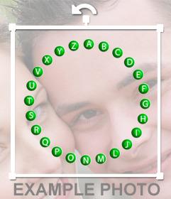 Sticker con el rosco de Pasapalabra