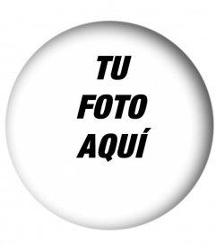 Marcos para fotos redondos con efecto sombreado