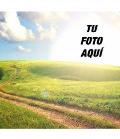 Paisaje rural que puedes editar para poner tu foto en el sol y es gratis