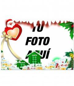 Rodea tu imagen con una Villa Navideña editando este efecto online