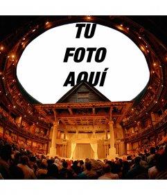 Foto montaje para poner tu foto en el techo de un teatro