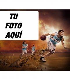 Foto montaje de la selección de baloncesto argentina