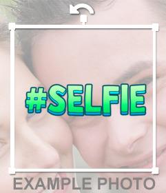 Pegatina con el texto #selfie