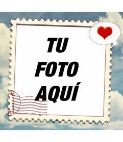 Marco en forma de sello para poner tus fotografías en viaje