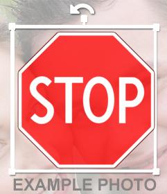 Sticker con la señal de Stop